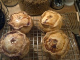 Free-form pies.