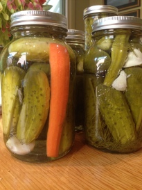 Non-fermented dill pickles