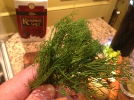 Oh, and fresh dill.